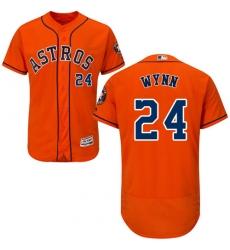 Men's Majestic Houston Astros #24 Jimmy Wynn Orange Flexbase Authentic Collection MLB Jersey