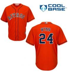 Men's Majestic Houston Astros #24 Jimmy Wynn Replica Orange Alternate Cool Base MLB Jersey