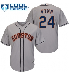 Youth Majestic Houston Astros #24 Jimmy Wynn Authentic Grey Road Cool Base MLB Jersey