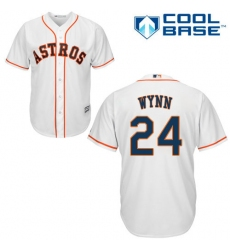 Youth Majestic Houston Astros #24 Jimmy Wynn Replica White Home Cool Base MLB Jersey