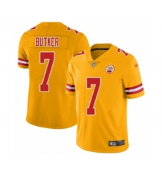 Youth Kansas City Chiefs #7 Harrison Butker Limited Gold Inverted Legend Football Jersey