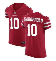 Men's Nike San Francisco 49ers #10 Jimmy Garoppolo Red Team Color Vapor Untouchable Elite Player NFL Jersey