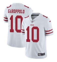 Youth Nike San Francisco 49ers #10 Jimmy Garoppolo White Vapor Untouchable Elite Player NFL Jersey