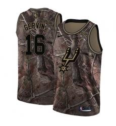 Men's Nike San Antonio Spurs #16 Pau Gasol Swingman Camo Realtree Collection NBA Jersey