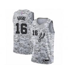 Men's San Antonio Spurs #16 Pau Gasol White Swingman Jersey - Earned Edition