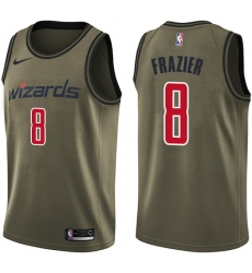 Men's Nike Washington Wizards #8 Tim Frazier Swingman Green Salute to Service NBA Jersey