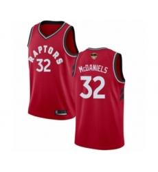 Men's Toronto Raptors #32 KJ McDaniels Swingman Red 2019 Basketball Finals Bound Jersey - Icon Edition