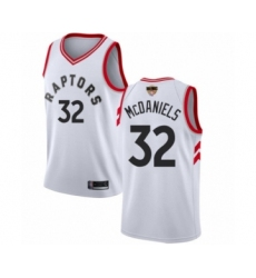 Men's Toronto Raptors #32 KJ McDaniels Swingman White 2019 Basketball Finals Bound Jersey - Association Edition