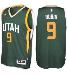 Utah Jazz #9 Ricky Rubio Alternate Green New Swingman Stitched NBA Jersey