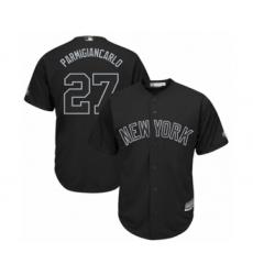 Men's New York Yankees #27 Giancarlo Stanton  Parmigiancarlo  Authentic Black 2019 Players Weekend Baseball Jersey