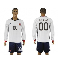 Colombia Personalized Away Long Sleeve Soccer Country Jersey