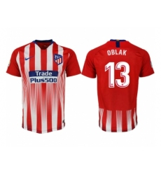 2018-2019 Atletico Madrid home aaa version 13 Club Soccer Jersey
