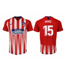 2018-2019 Atletico Madrid home aaa version 15 Club Soccer Jersey