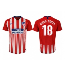 2018-2019 Atletico Madrid home aaa version 18 Club Soccer Jersey