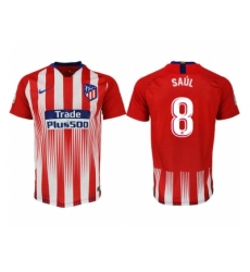 2018-2019 Atletico Madrid home aaa version 8 Club Soccer Jersey
