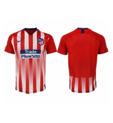 2018-2019 Atletico Madrid home aaa version blank Club Soccer Jersey