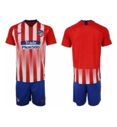2018-2019 Atletico Madrid home blank Club Soccer Jersey