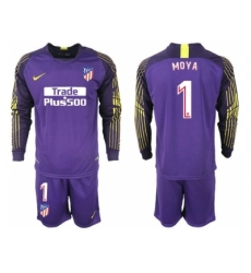 2018-2019 Atletico Madrid purple goalkeeper long sleeve 1 Club Soccer Jersey