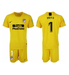 2018-2019 Atletico Madrid yellow goalkeeper 1 Club Soccer Jersey
