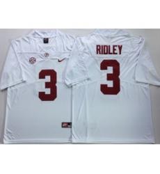 Alabama Crimson Tide 3 Calvin Ridley White Nike College Football Jersey