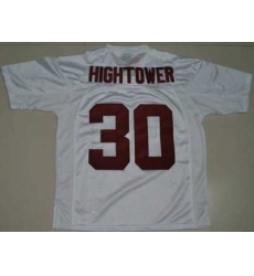 Crimson Tide #30 Donot Hightower White Embroidered NCAA Jersey