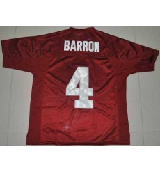 Crimson Tide #4 Mark Barron Red 2012 BCS Championship Patch Embroidered NCAA Jersey
