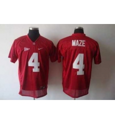 Crimson Tide #4 Marquis Maze Red Embroidered NCAA Jersey