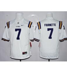 LSU Tigers 7 Leonard Fournette White Youth College Jersey