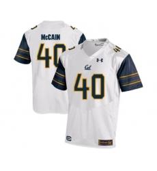 California Golden Bears 40 Chris McCain White College Football Jersey