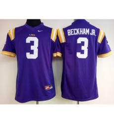 LSU Tigers 3 Odell Beckham Jr Purple College Football Jersey