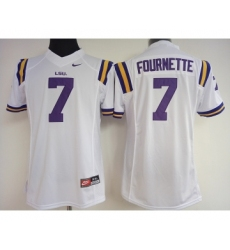 LSU Tigers 7 Leonard Fournette White College Football Jersey