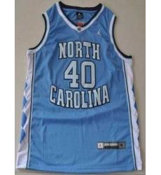 North Carolina #40 Harrison Barnes Blue Embroidered NCAA Jersey