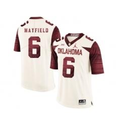 Oklahoma Sooners 6 Baker Mayfield White 47 Game Winning Streak College Football Jersey