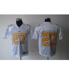 NCAA Tennessee vols #27 white Jerseys