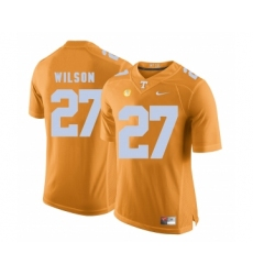 Tennessee Volunteers 27 Al Wilson Orange College Football Jersey