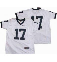 NCAA Penn State University 17 White Jersey
