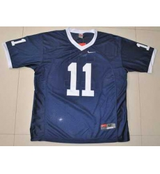 Nittany Lions #11 Navy Blue Embroidered NCAA Jersey