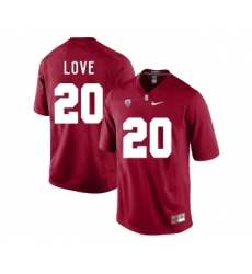 Stanford Cardinal 20 Bryce Love Cardinal College Football Jersey