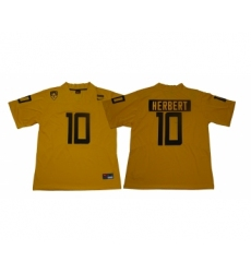 Oregon Ducks 10 Justin Herbert Yellow Nike College Football Jersey