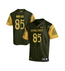 Notre Dame Fighting Irish 85 Troy Niklas Olive Green College Football Jersey