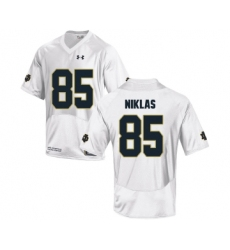 Notre Dame Fighting Irish 85 Troy Niklas White College Football Jersey