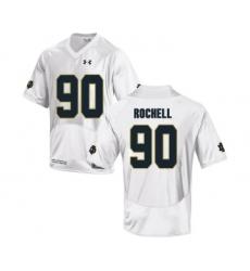 Notre Dame Fighting Irish 90 Isaac Rochell White College Football Jersey