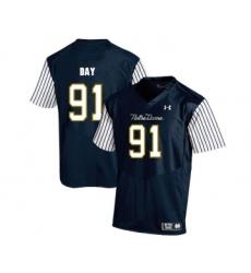 Notre Dame Fighting Irish 91 Sheldon Day Navy College Football Jersey