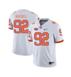 Clemson Tigers 92 Greg Huegel White Nike College Football Jersey