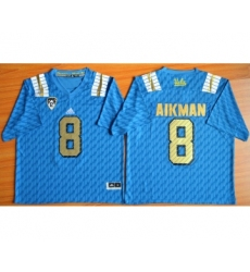 UCLA Bruins 8 Troy Aikman Blue College Jersey