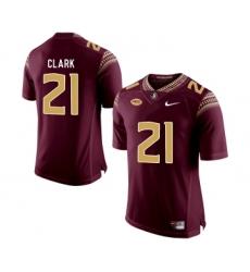 Florida State Seminoles 21 Corey Clark Marroon College Football Jersey