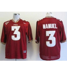 NEW Florida State Seminoles E.J Manuel 3 Red College Football Authentic Jerseys