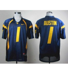 NCAA Nike West Virginia Mountaineers Tavon Austin 1 blue WVU jersey