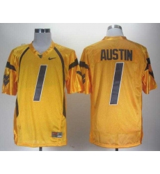 NCAA Nike West Virginia Mountaineers Tavon Austin 1 gold WVU jersey