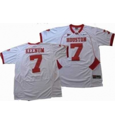 NCAA Houston Cougars #7 KEENUM white jerseys